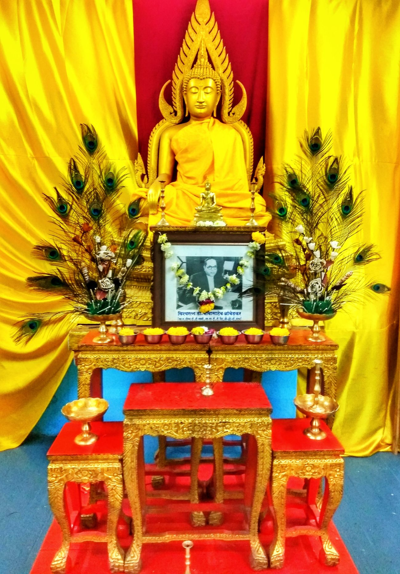 Religion Spirituality Place Of Worship Yellow Pattern No People Statue Flower Indoors  Gold Colored Architecture Day Golden Temple Peace ✌ Peace And Love ✌❤ Lord Buddha Lord