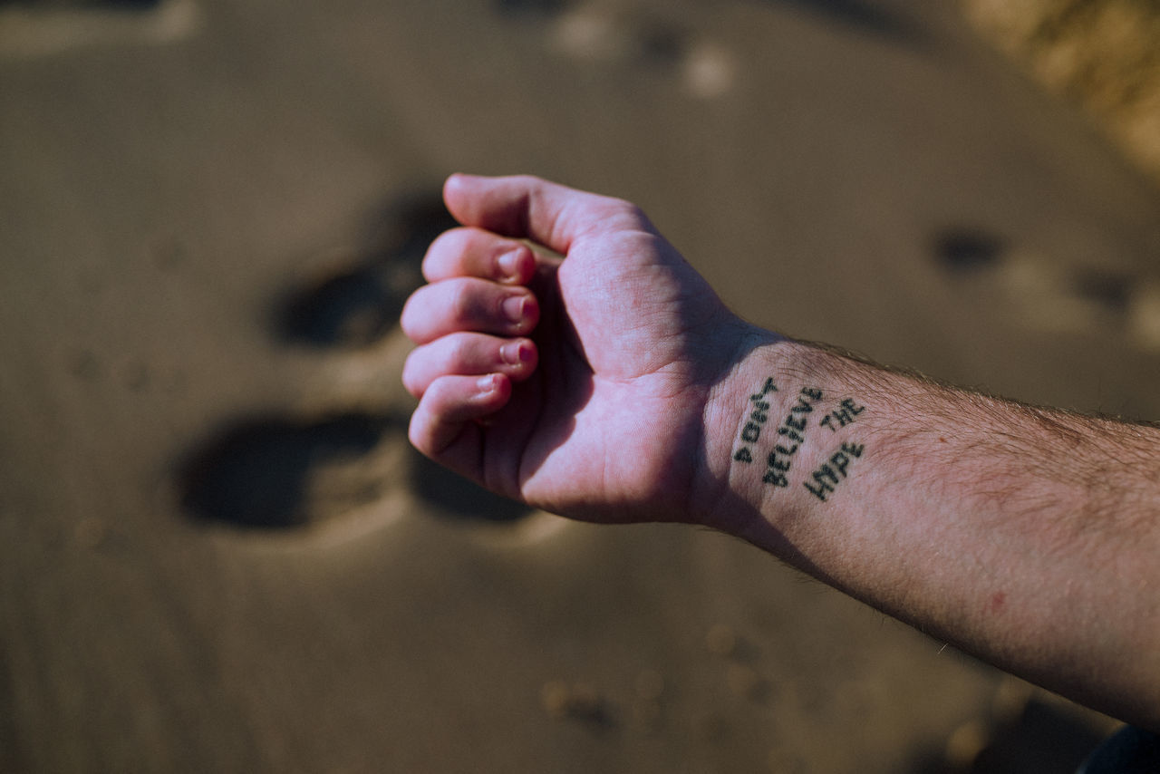 beach day EyeEm x Audi - Letter Q human body part human finger human hand leisure activity lifestyles men outdoors real people tattoo two people