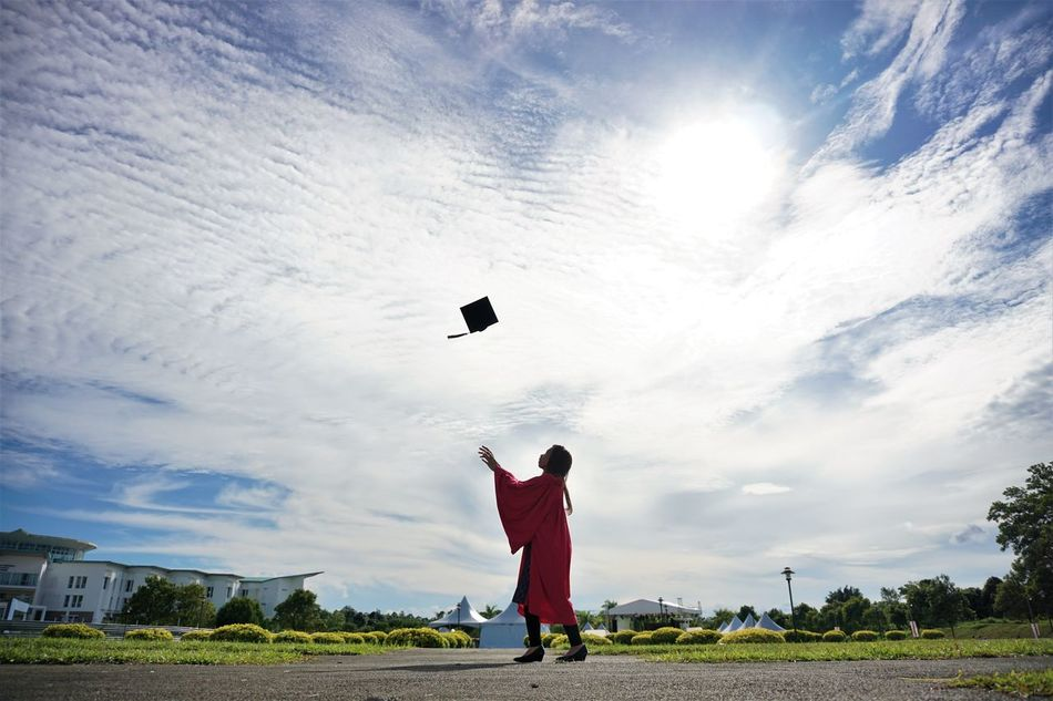 Beautiful stock photos of abschluss,  30-34 Years,  Cloud - Sky,  Day,  Education