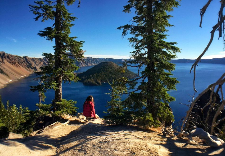 Crater Lake Crater Lake National Park National Park Mountain Lake Lakes  Tree Nature Tranquil Scene Tranquility Beauty In Nature Outdoor Pictures Landscape Photographer Oregon Explored Outdoor Photography Nature Photography Scenic View AspiringPhotographer Oregon Beauty