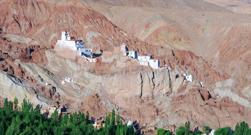 Beauty In Nature Day Landscape Mountain Nature No People Outdoors Rock - Object Scenics Temple Temple On Hill - India Travel Travel Destinations
