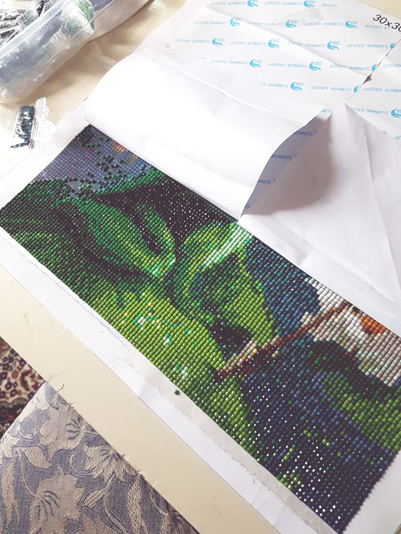 crafty mumin ;) Pearls Crafty Working Frog Princess Mosaic Embrodery Embrodery