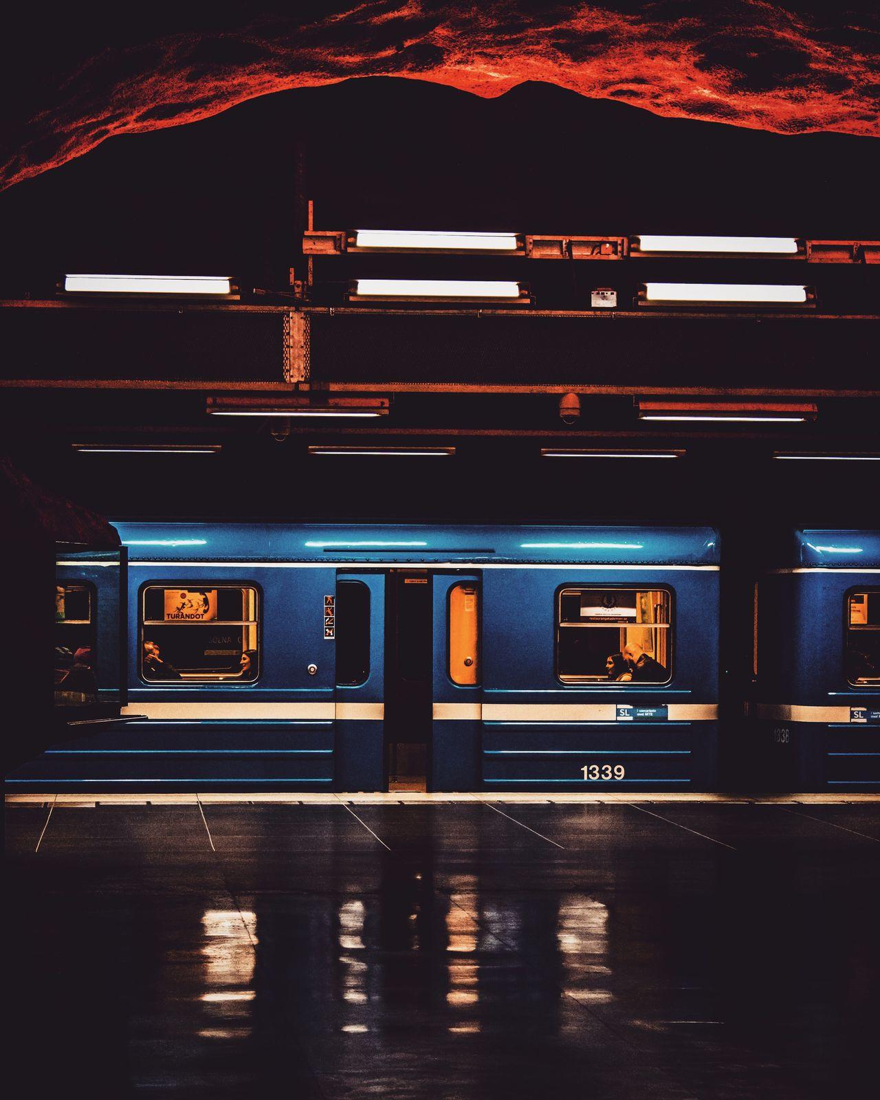 The Architect - 2017 EyeEm Awards Transportation Public Transportation Illuminated Train - Vehicle No People Rail Transportation Night Indoors