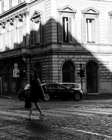 Sulle strade romane... Building Exterior Architecture Built Structure Full Length Real People Two People Street Women City Lifestyles Day
