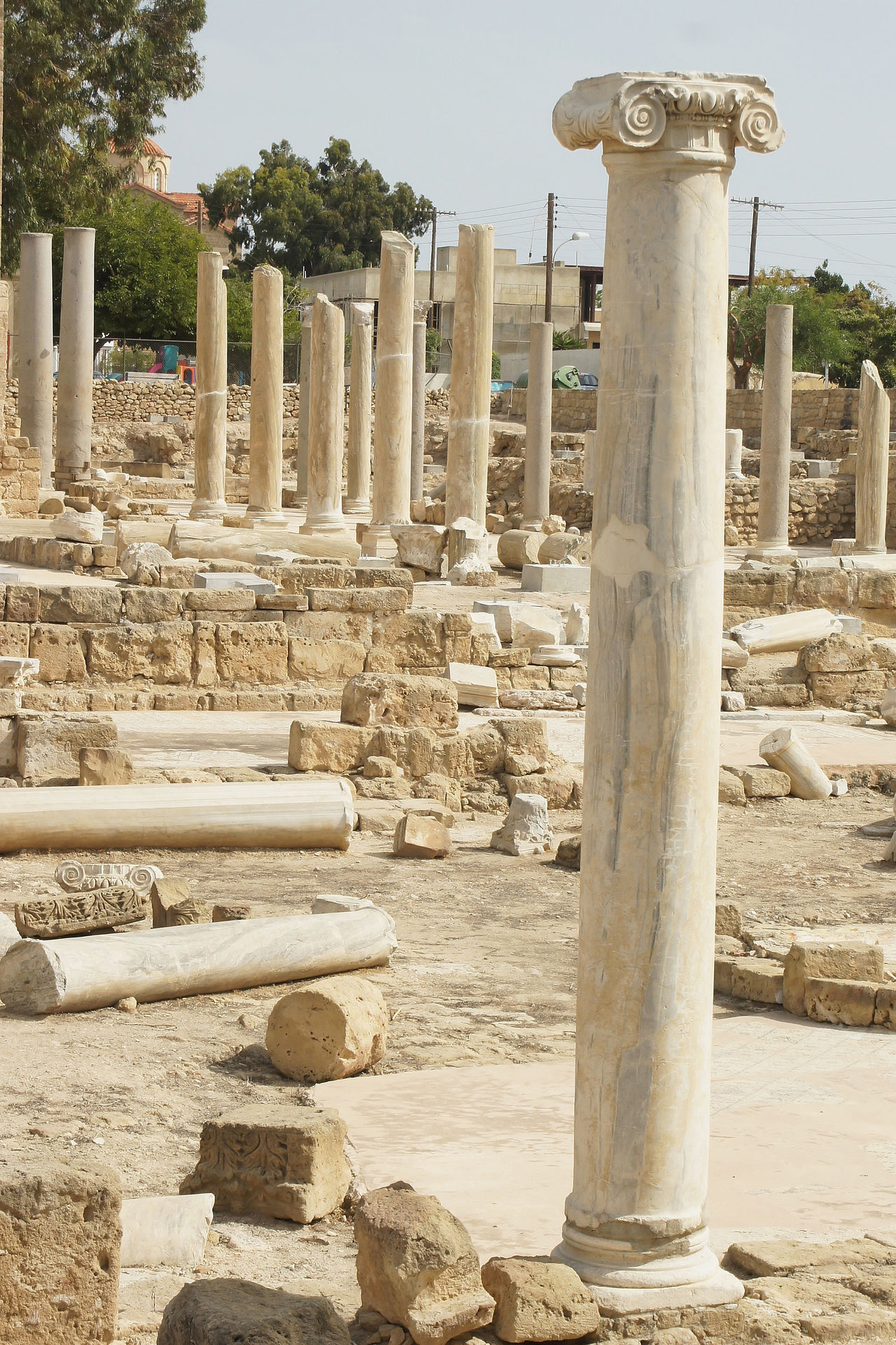 Ancient world meets present, Paphos, Cyprus, Europe Ancient Church City Cyprus Europe Famous Place Mediterranean  No People Outdoors Panorama Paphos Pillar Sights Sightseeing South Europe Tourism Tourist Attraction  Town Travel Travel Destinations Travelling