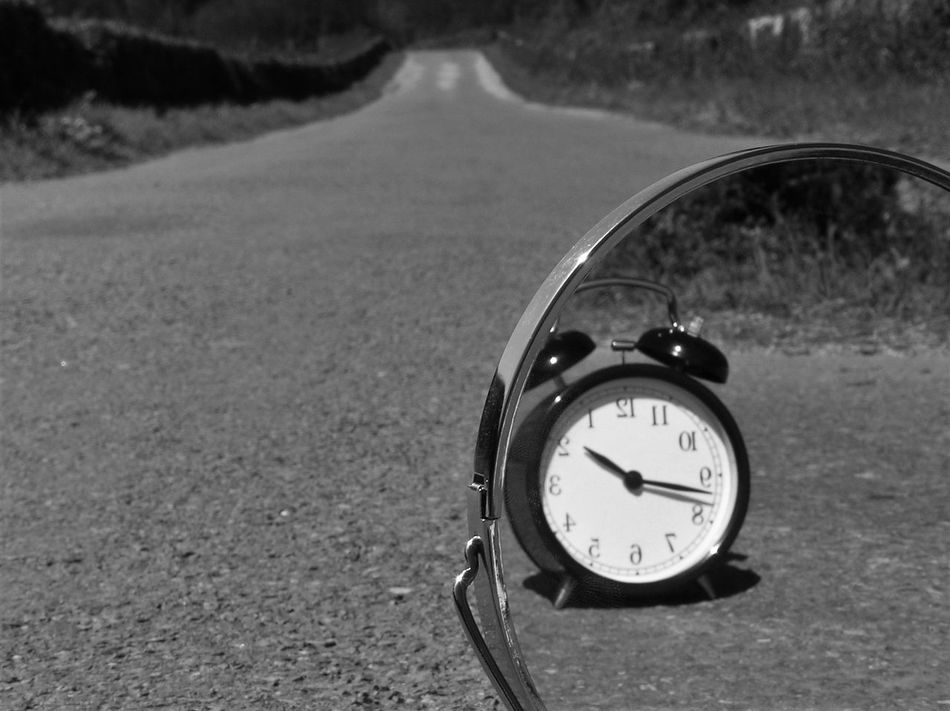 Bw Bw_collection Clock Exploring EyeEm Best Shots Mirror Nature Lover Reflection Road Surrealism Time