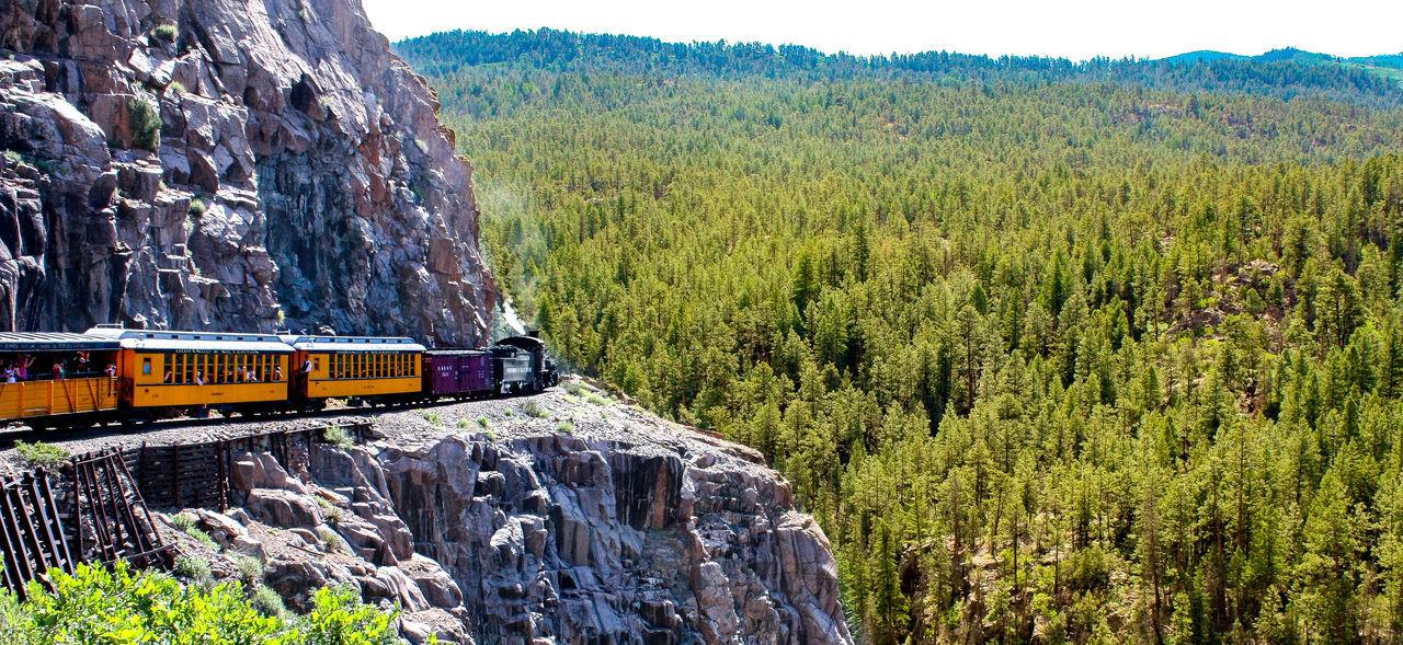 Awesome Danger Dangerous Road Durango Durango Colorado Durango Silverton Train Locomotive Nature Nature Photograhy Nature Photography Old Locomotive Old Town Risky Train On Cliff Train Ride Watch The Clock