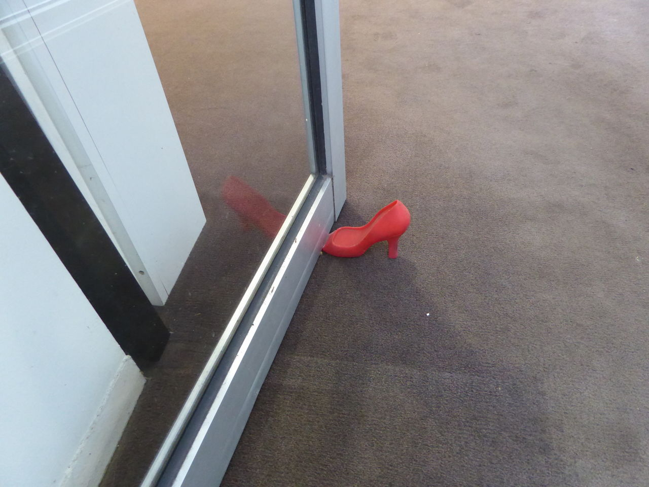 Cinderella Come In Baby Door Stopper High Angle View Red Red High Heels We Are Open