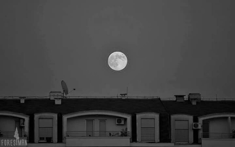 Fullmoon Cityscape Blackandwhite Photography Urban Geometry