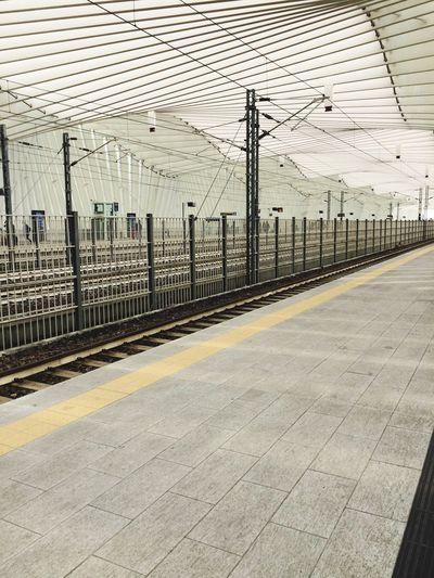 Train station. The Architect - 2016 EyeEm Awards Train Station Yellowline Waiting Architecture Modern Station Reggioemilia StazionereggioemiliaAV Highspeed