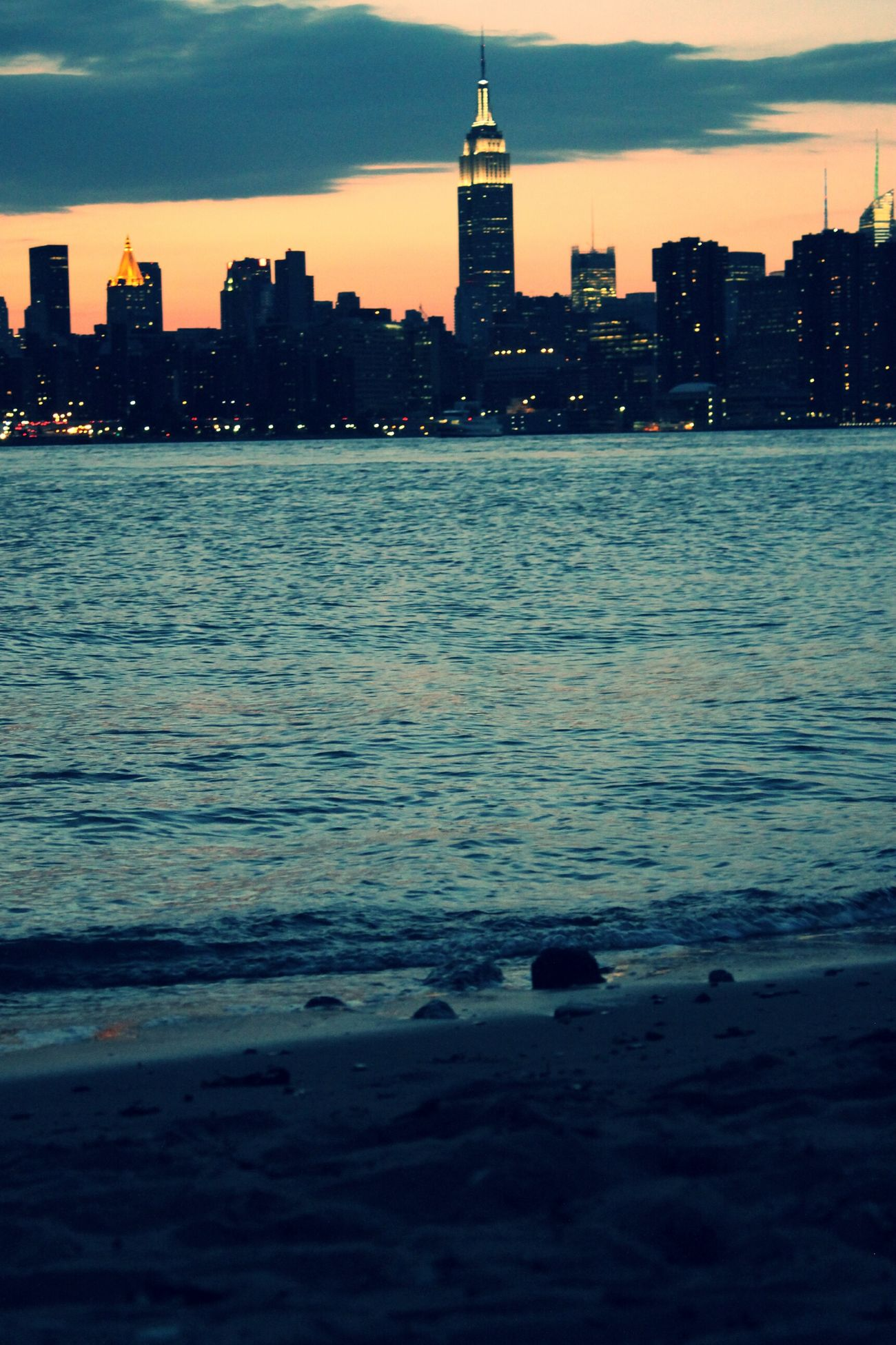 """Views of the ESB, N. Williamsburg, Brooklyn"" Watching The Sunset"