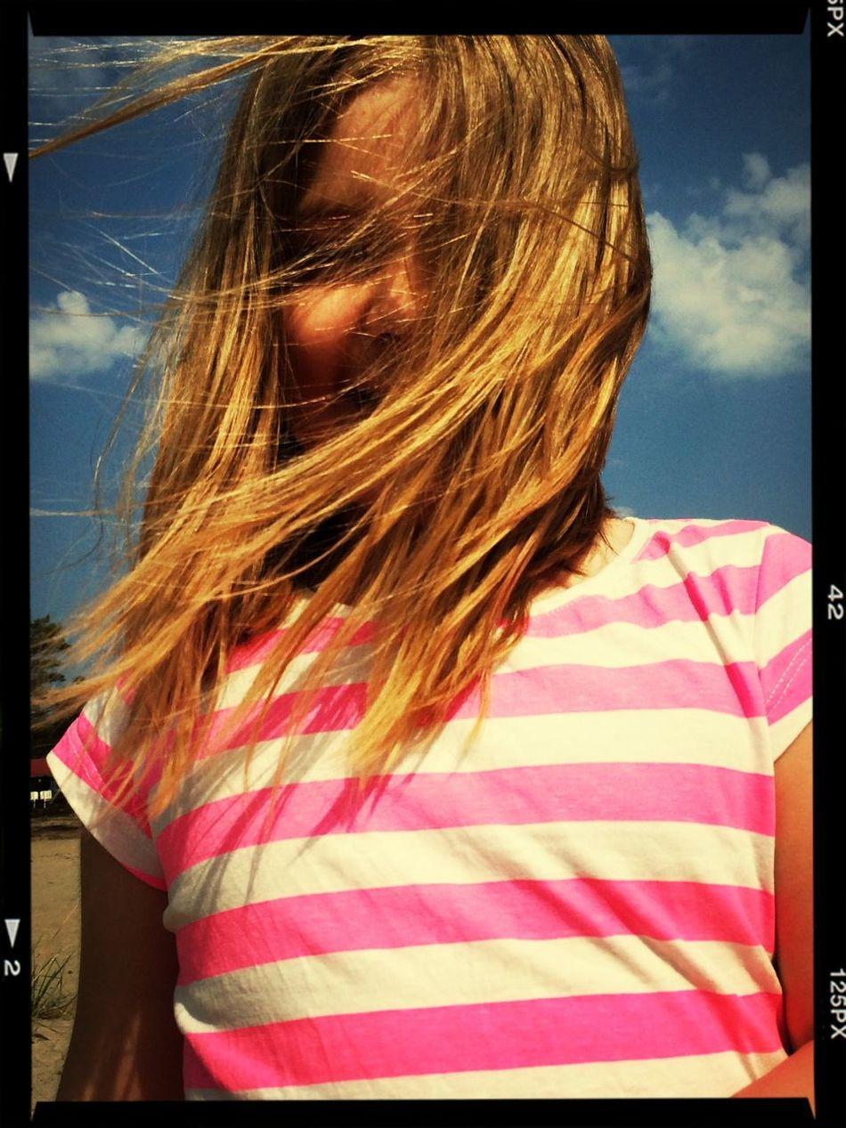 Windy Day Beach Child Sun