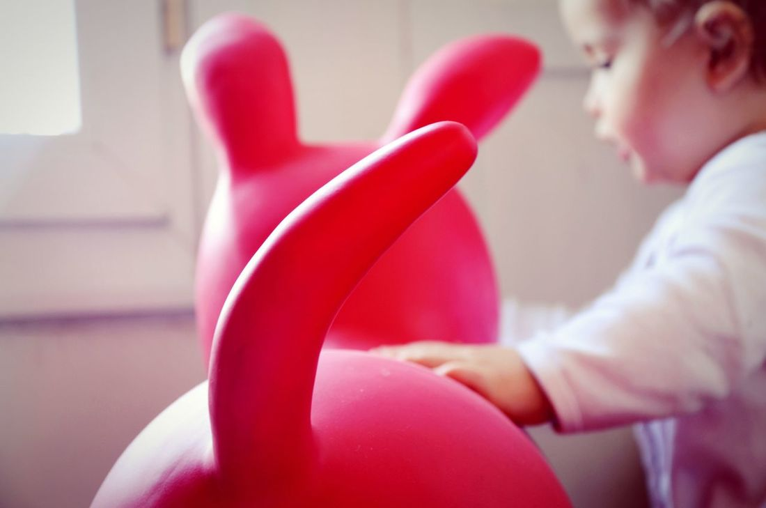 Boy Tenderness Childhood Red Red Toy Toy Light Indoors  Taking Photos My Year My View City Life Baby Life