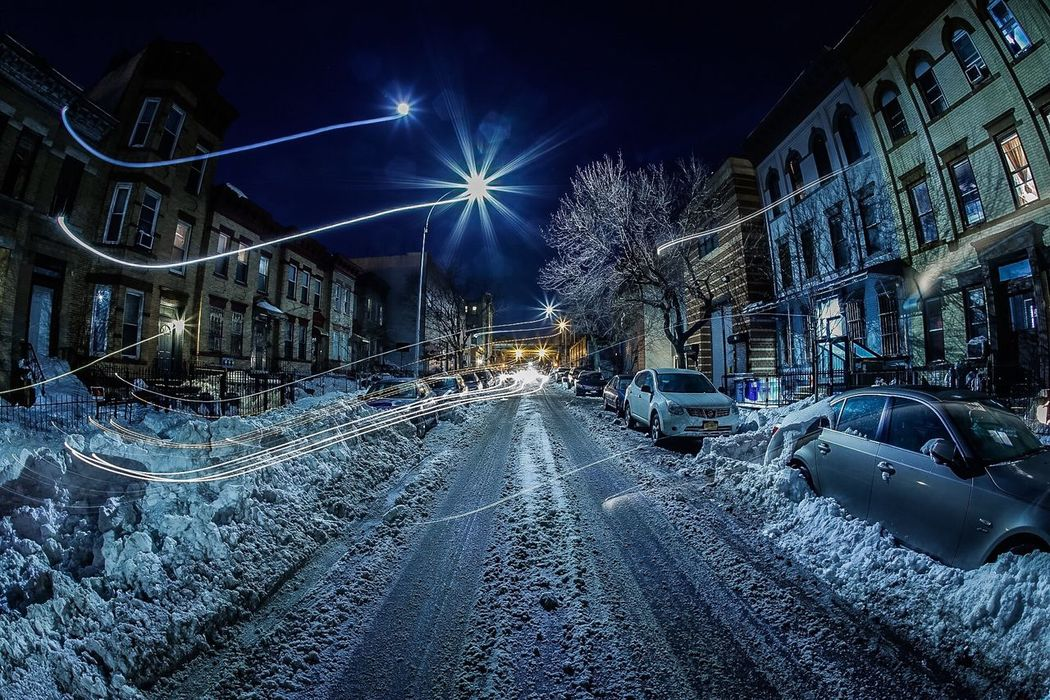 A happy mistake. I was shooting a long exposure and a car came down the road. So.. I had to jump out of the way. Hens the light streaks. NYC NYC Photography Brooklyn Sunsetpark Long Exposure Nightscape Cityscapes Eyeemphotography Car Photography Photographer ShawnBaz
