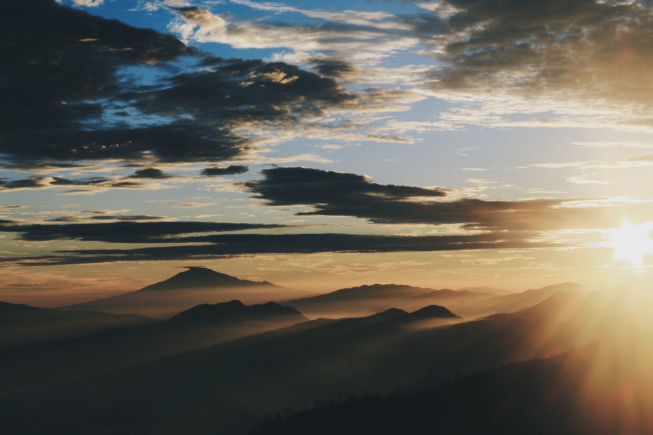 Sunset Nature Beauty In Nature Scenics Sunbeam Landscape Tranquility Mountain No People Outdoors Dramatic Sky Sky Tree Day Adventure Canonphotography Arts Culture And Entertainment EyeEm Indonesia Indonesia_photography Nature Traveling Home For The Holidays Finding New Frontiers