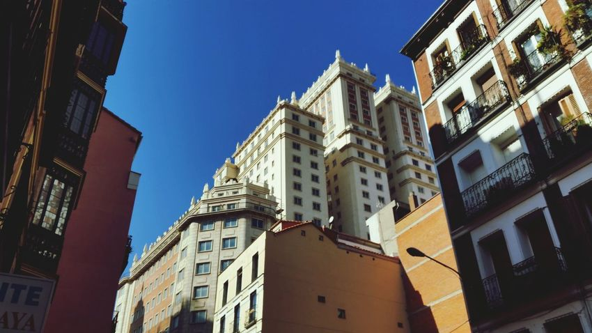 Madrid Plaza De España Urban Geometry City
