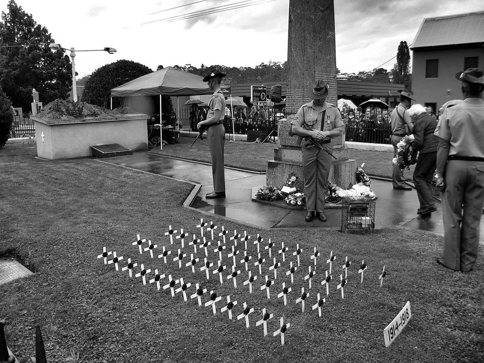 Adult Anzac Day Architecture Black And White Black And White Photography Building Exterior Built Structure Day Large Group Of People Lestweforget Men Military Military Parade Monochrome Monochrome Photography Outdoors People Poppy Real People Remember Sky Women