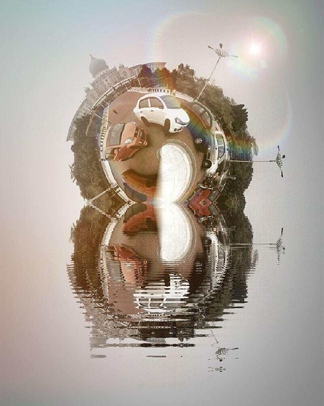 Is this the real life? Is this just fantasy? WHPmakebelieve Tinyplanet Reflection Puddle Fantasy Putrajaya Makebelieve Htcone HTCOneM7 HTC Gadgetgrapher Phoneedit Merging Surface Up Jalanjalansore Jalanjalanmen JJS