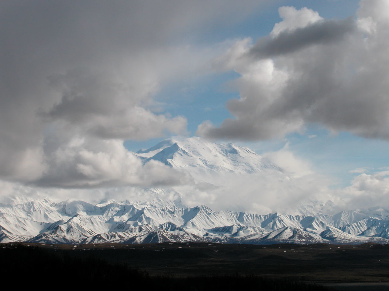 Alaska Beauty In Nature Cloud - Sky Cold Temperature Day Denali Denali National Park Landscape Mountain Mountain Peak Mountain Range Mt Denali Mt McKinley Nature No People Outdoors Scenics Sky Snow Snowcapped Mountain Winter