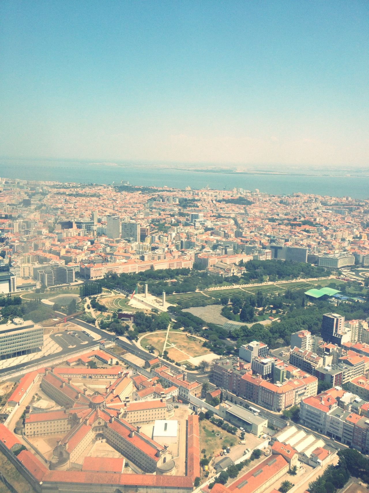Just before landing at Lisbon airport! Portugal From An Airplane Window