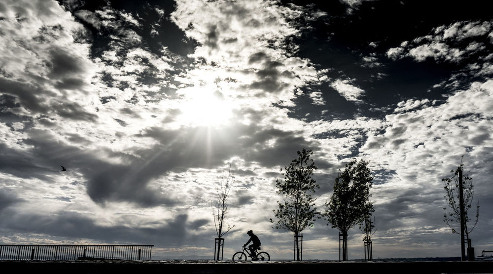 Atmospheric Mood Cloud Cloud - Sky Cloudy Cyclist Dramatic Sky Silhouette Sky Sport Celebrate Your Ride Cicling Unites