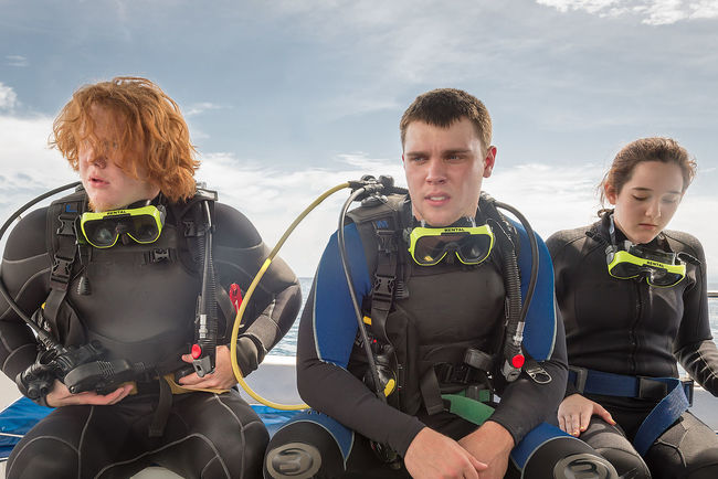 Adventure Club Bonding Boys Enjoyment Family Friendship Fun Happiness Innocence Leisure Activity Lifestyles Person Playing Portrait Scuba Diving Sibling Smiling Togetherness Water Sports