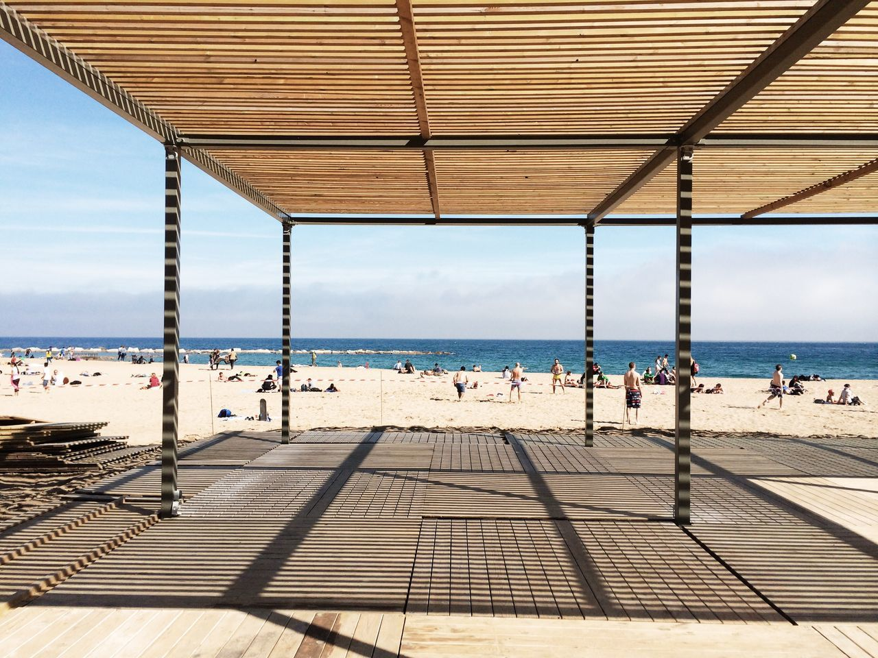 Vanishing Point La Barceloneta Urban Geometry Geometric Shapes