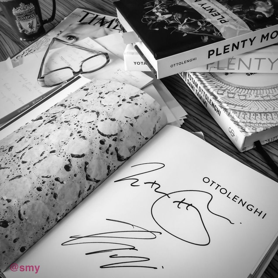 Signed. Sealed. Delivered. They are mine! Thank you Ottolenghi Blackandwhite Books Shootermag Streamzoofamily EyeEm Bnw Malaysia Monochrome Love
