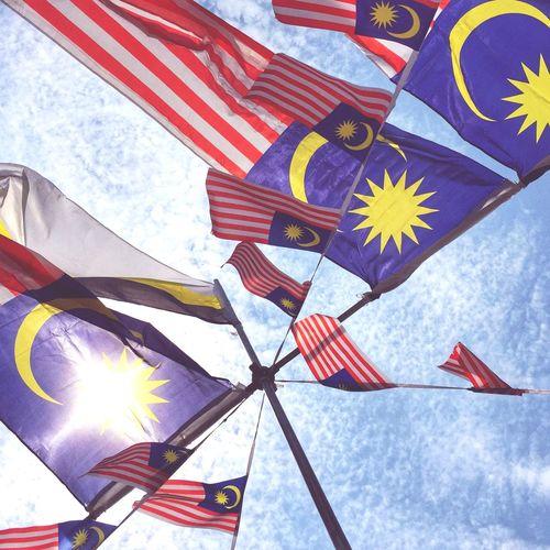 Our Pride.. Flag Patriotism Low Angle View Cloud - Sky Sky Day Pride No People Outdoors Close-up Merdeka60 Merdeka2017 Negaraku Benderakita The Week On EyeEm Skyscraper Tranquil Scene Flagpole BrightDay The Week On EyeEm EyeEmNewHere