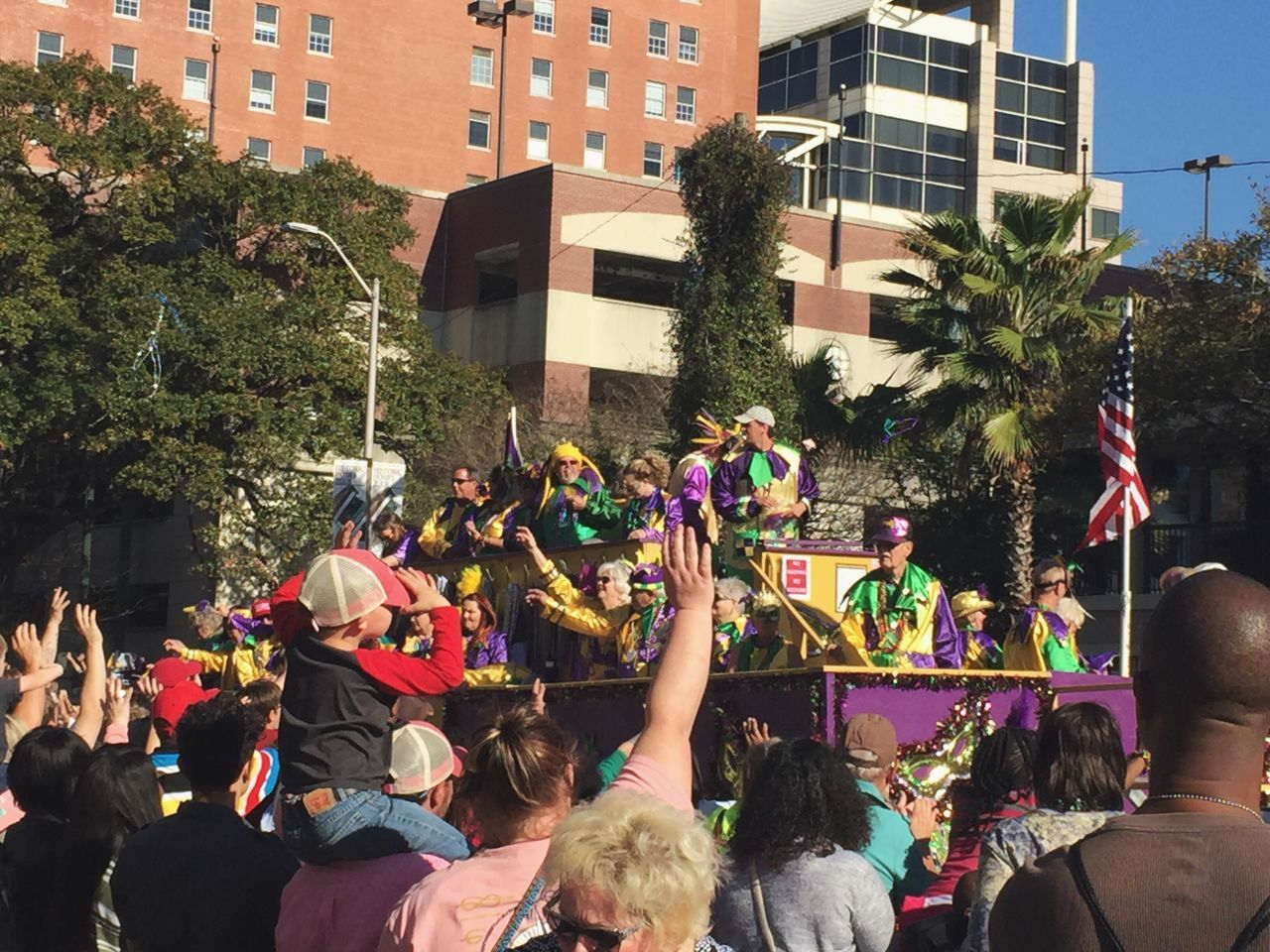 Let the Good Times Roll! Real People Parade Togetherness Beads Carnival Crowds And Details Gulf Coast Fun Celebration Large Group Of People Building Exterior Outdoors Women Men Tree Day Architecture City Crowd Adult People Adults Only Carnival Crowds And Details