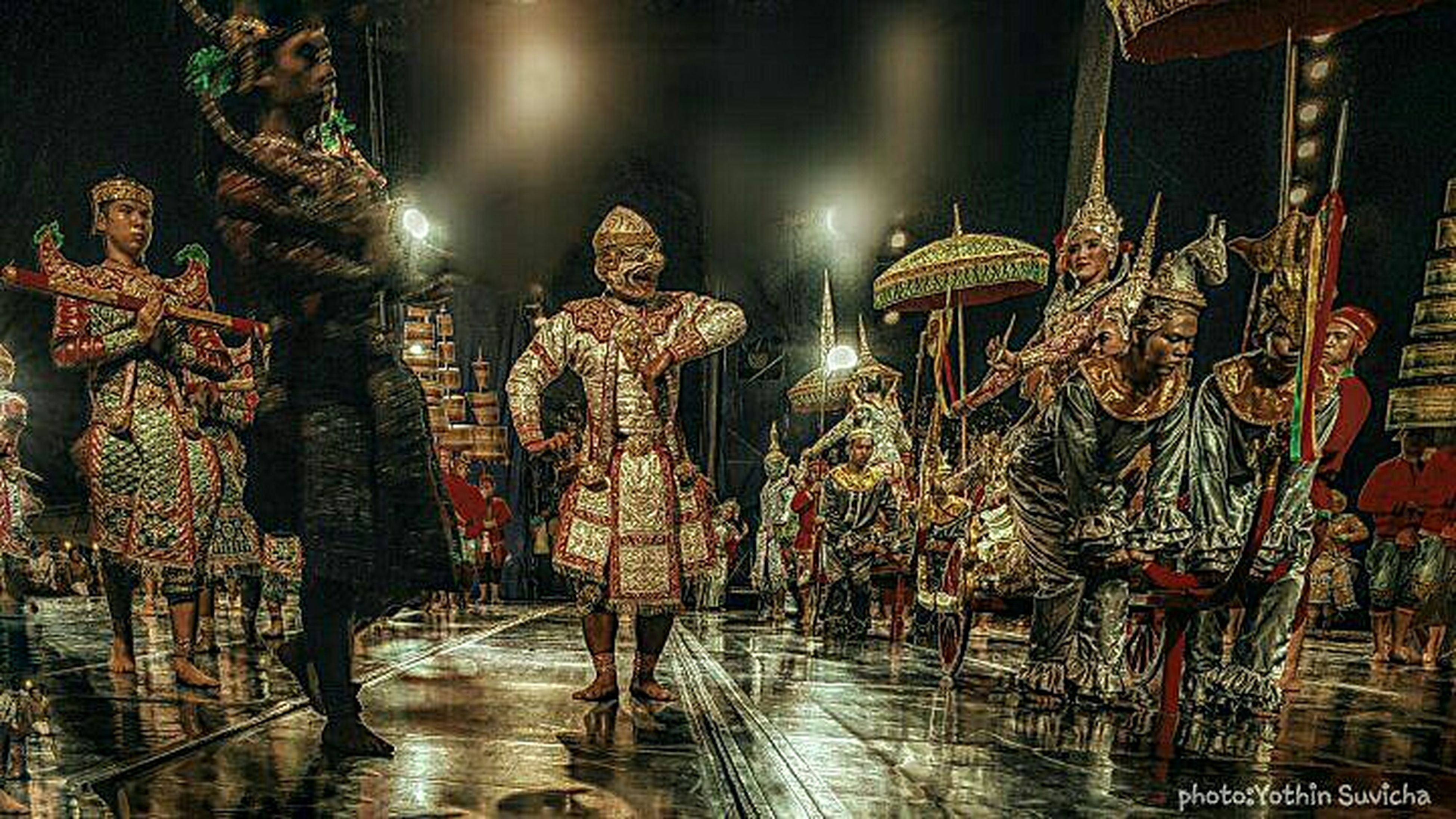 illuminated, night, built structure, water, reflection, lighting equipment, architecture, decoration, building exterior, street, hanging, in a row, outdoors, incidental people, street light, market, celebration, large group of objects, cultures, city