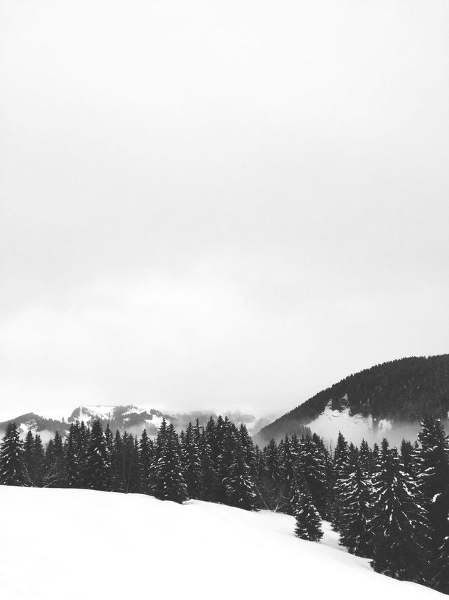 Even with Fog and rain i love skiing ... Mountain View Skiing Saint Gervais Clouds Blackandwhite Fog Rainy Days