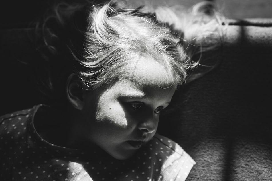 Child Girl Childhood Children Kids Shadows Portrait One Person Real People Headshot Indoors