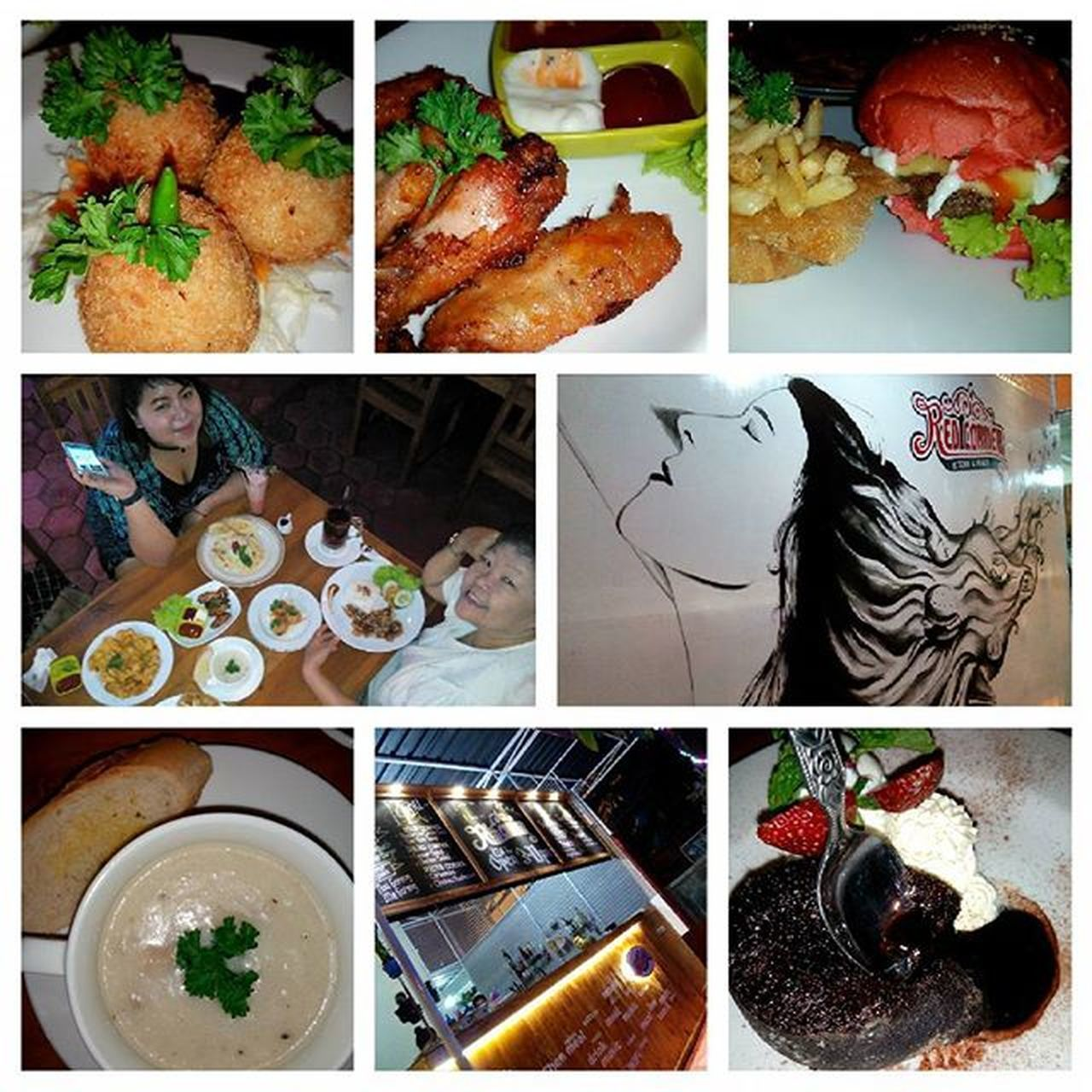 At Red Corner Kitchen, Jl. Lowanu no. 63, Yogyakarta Dinner and cheating day wif mom and dedek @dewadeww Red corner burger special wif mozzarella cheese 23K Spaghetti carbonara 25K Chicken katsu 17K Asparagus cream soup 13K Chicken wings 15K Chicken cheese ball 12K Bakwan jagung 12K Hot tea 4K Wedang uwuh 10K Strawberry Lassy 12K *The dessert is Lava cake wif homemade whipped cream and vanila ice cream FREE! Soft opening 1-7 December get 20% discount, yaaaayyy!! Bon appetite! Cafe Redcornerkitchen Redburger Culinary Western Food Foodie Foodphotography Foodporn Instafood Foodseeker Foodhunger Foodhunter Bonappetit Eatclean Eatwelltraveloften Enjoyinglife  Enjoy Eattogether Sisterhood FamilyTime Qualitytime Capturedbymyoppoyoyo DECEMBER2015