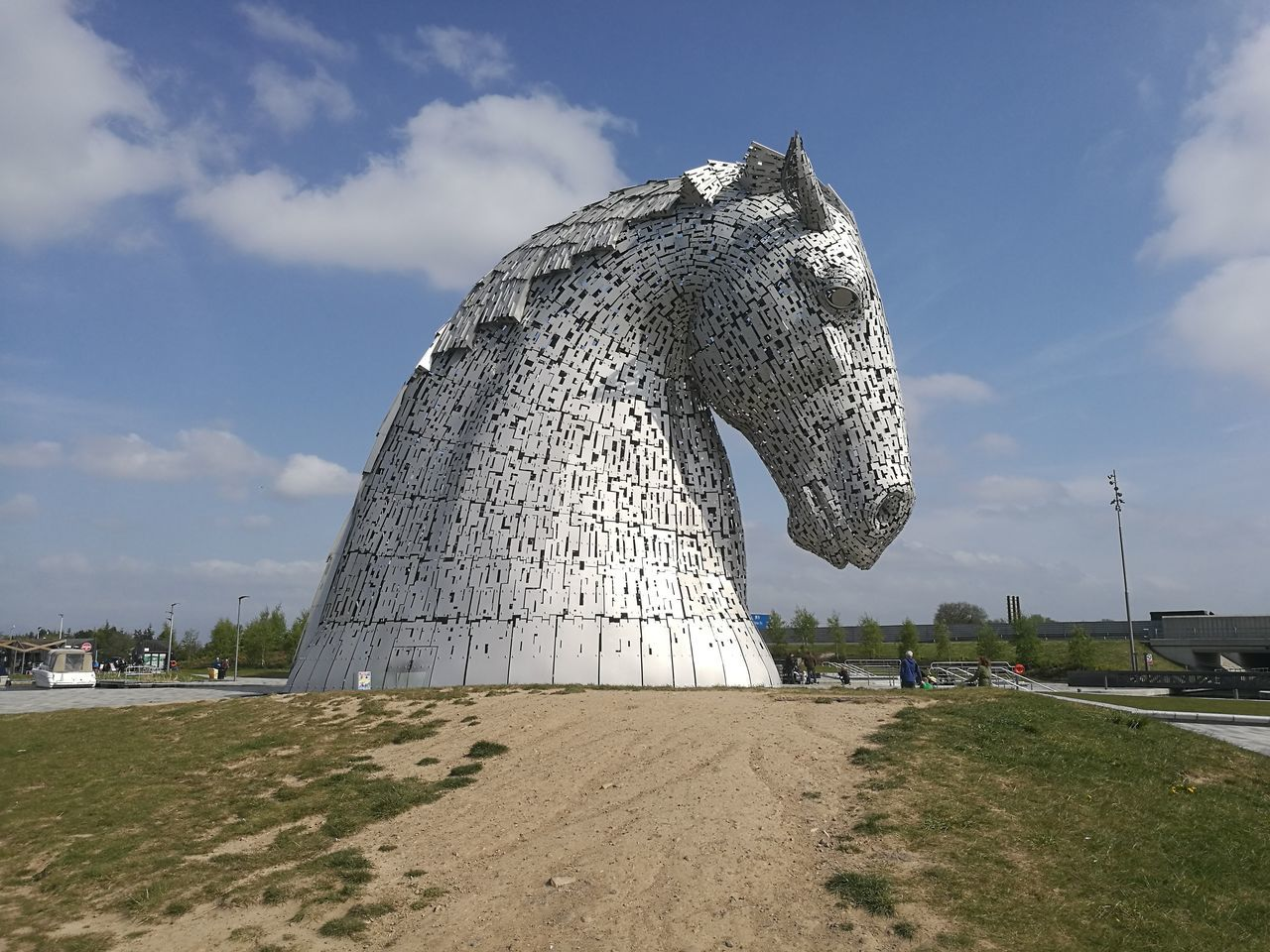 Kelpies Of Falkirk Sand Outdoors Day No People Sky Pixelated Nature