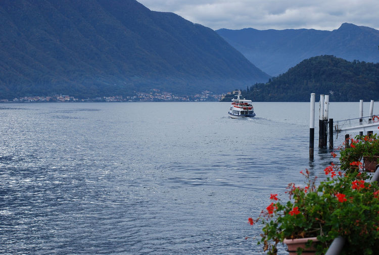 Autumn day on Lake Como - Tremezzo, Lombardy, Italy. Beauty In Nature Como Italia Italy Lake Landscape Lario Lombardia Lombardy Mode Of Transport Mountain Mountain Range Nature Nautical Vessel No People Outdoors Scenics Sky Transportation Tremezzina Tremezzo Water