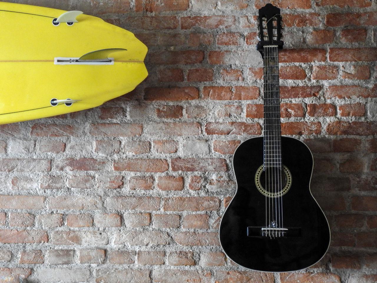 Beautiful stock photos of gitarre, Arts Culture And Entertainment, Brazil, Brick Wall, Day