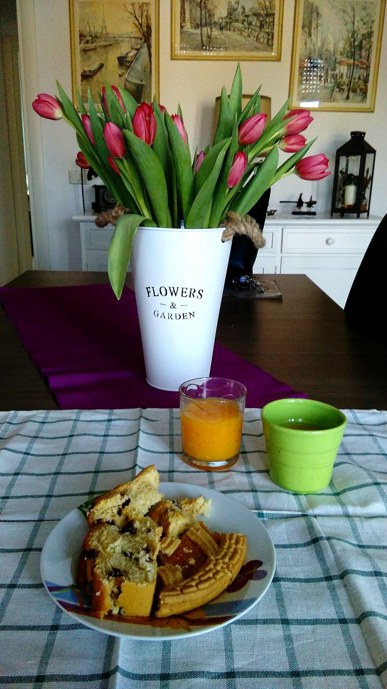 Italian Breakfast Spring Flowers Tulips My Home My Live, My Wold