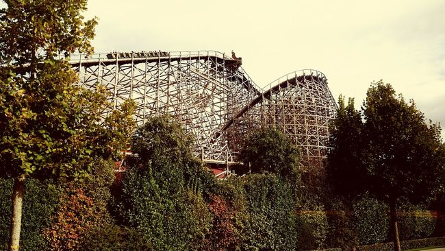 Europapark 😍 Sky Outdoors Freshness Rollercoaster Horizontal Day Holiday Fun Adrenaline Junkie