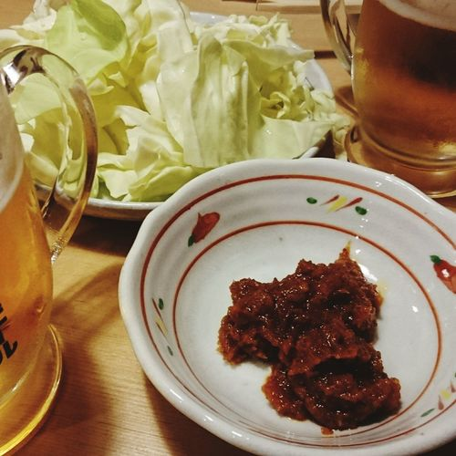 Food And Drink Food Drinking Glass Drink ビール や台や 食べもの 麦酒 Beer Glass Foods Beer Time Beer Beers Beer - Alcohol Food And Drink Cabbage キャベツ Cabbages