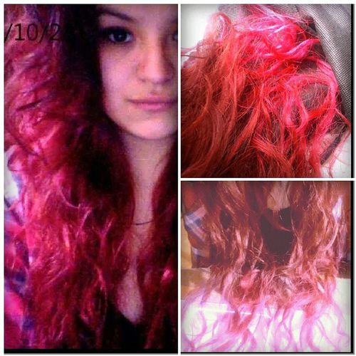 ??Byebye Redhair Dyehair Pink hairstyle
