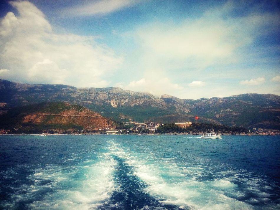 Enjoying Life Naturelovers Sea View Sea Summer2015 Sunshine Huaweihonor3c Budva,Montenegro Blue Sea Waves, Ocean, Nature