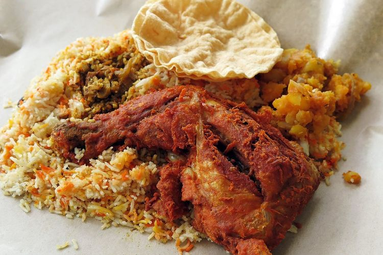 Nasi Bryani chicken Lunch Foodporn Sgfood Singapore Hawker Food Food Porn Awards