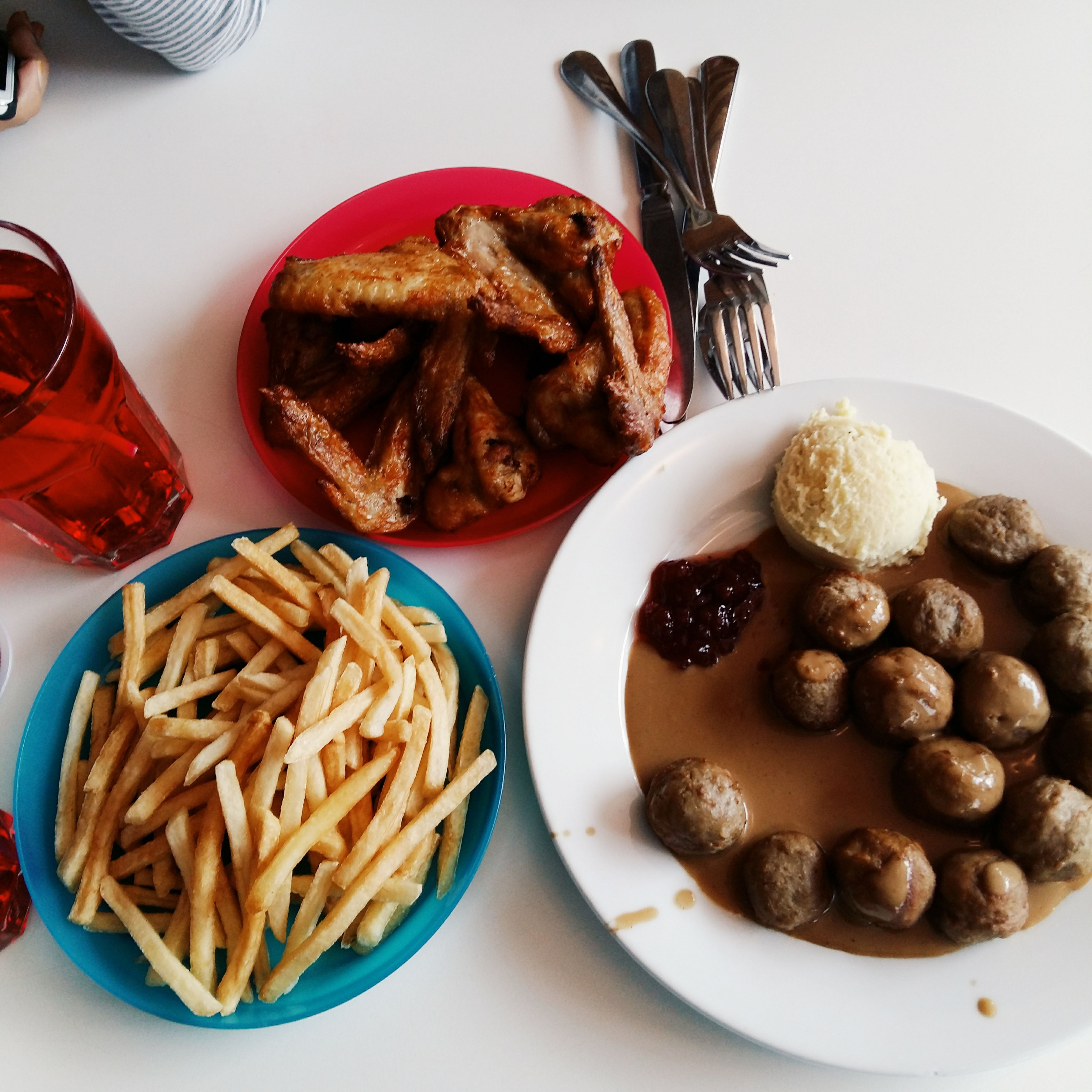 Meatball Meatball Gravy Fries Chicken Wings Delicious Love Date Babe For The First Time At IKEA Damansara Malaysia