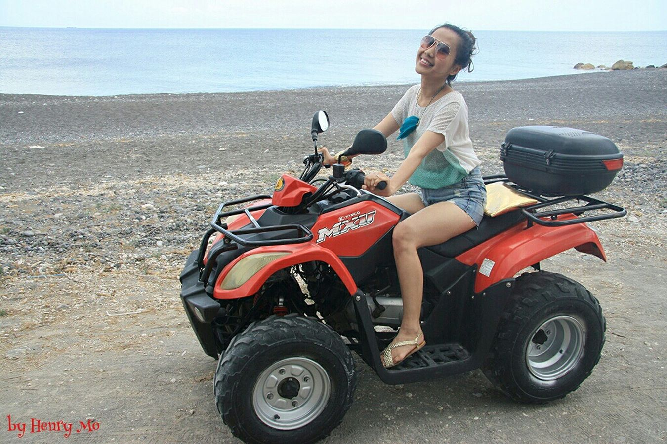 on the moto 2 Red beach Lovemotorcycles That's Me Beautiful Day Enjoying Life