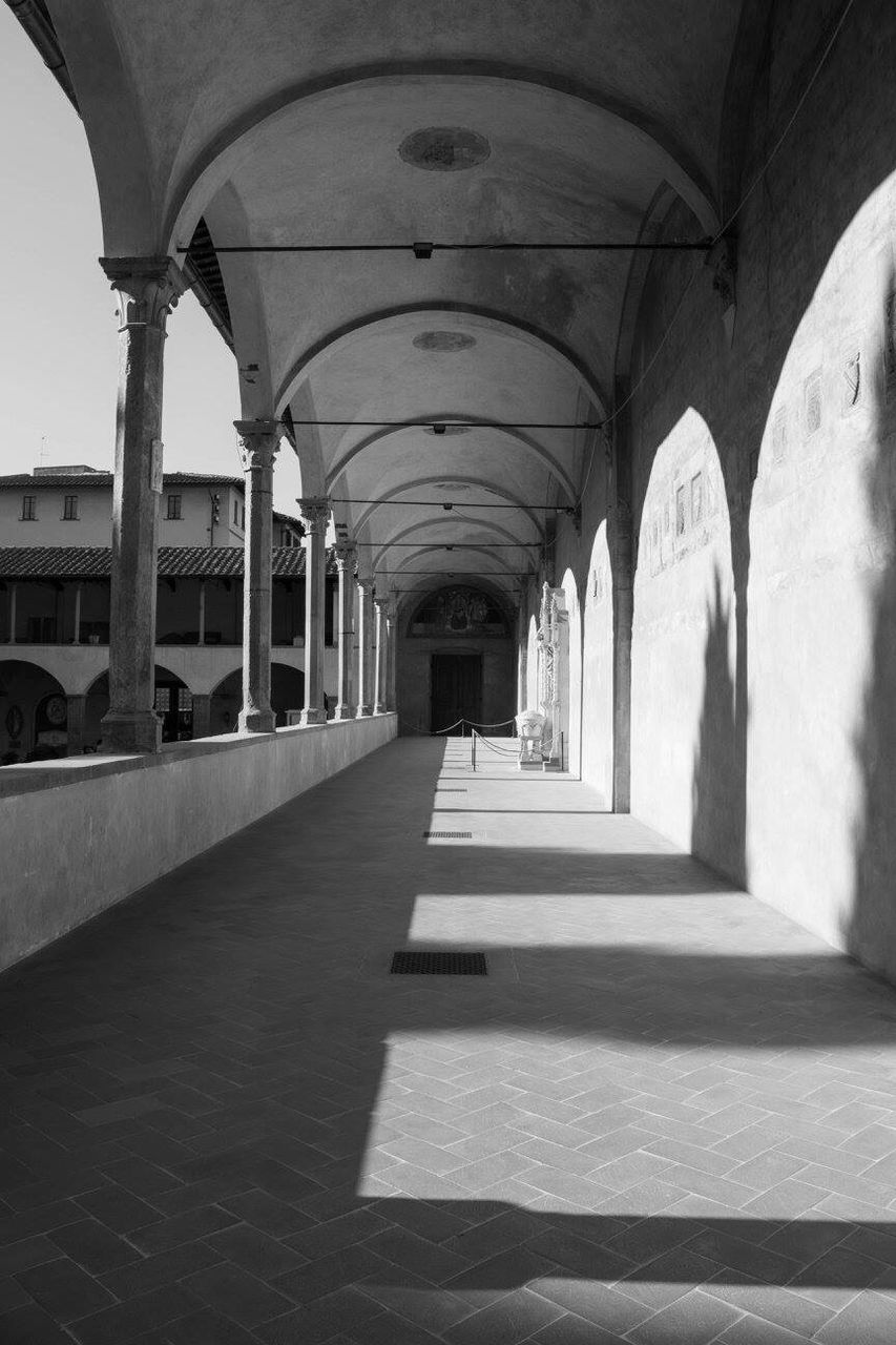 arch, the way forward, architecture, built structure, indoors, corridor, architectural column, day, no people