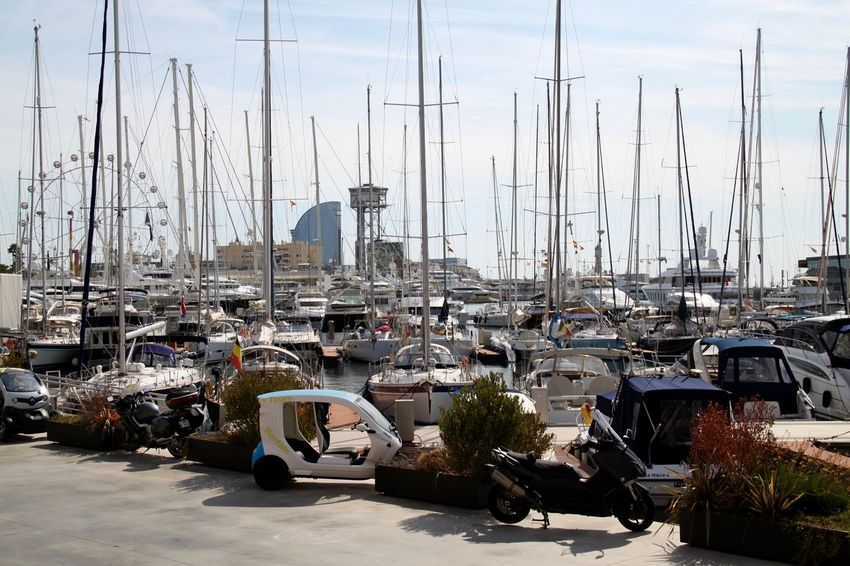 Barcelona BARCELONA PORT Harbor Marina Mode Of Transport Moored Nautical Vessel No People Outdoors Port Port De Barcelona  Port Of Barcelona Sailboat Sea Transportation Water Yachts Mobility In Mega Cities
