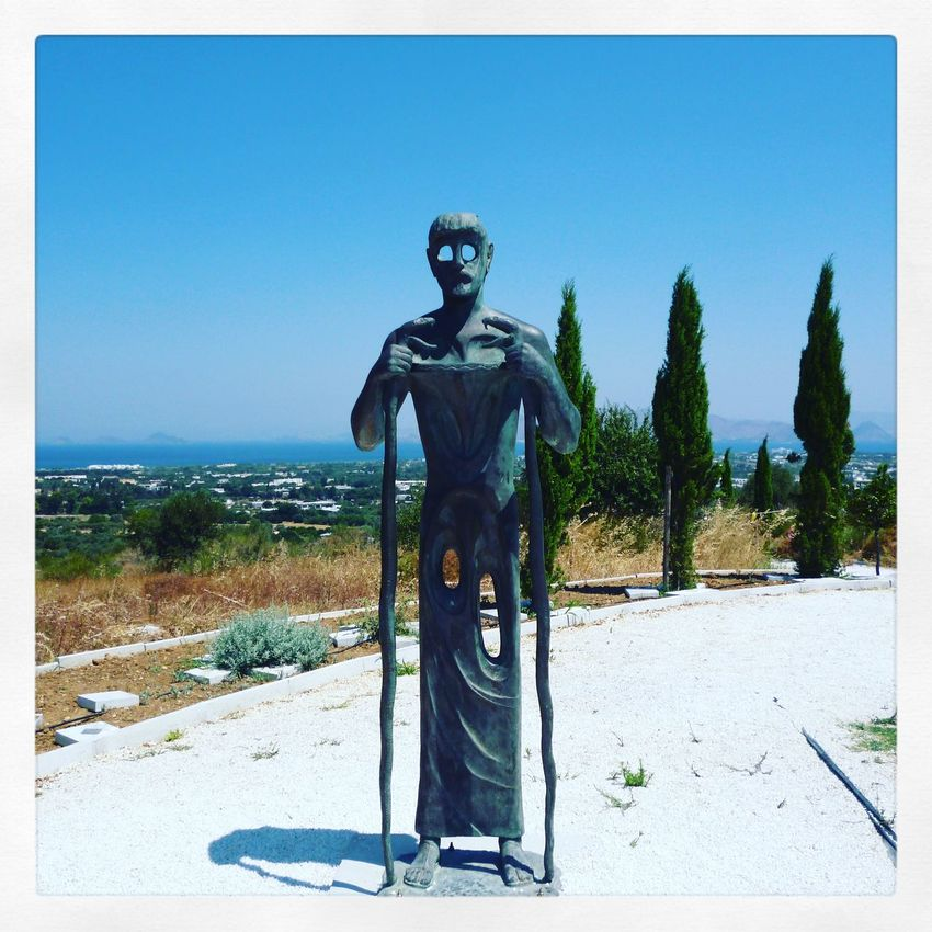 Male Likeness Clear Sky Human Representation Kos Greece Hippocrates Statue No People Sculpture Nature Day Sky