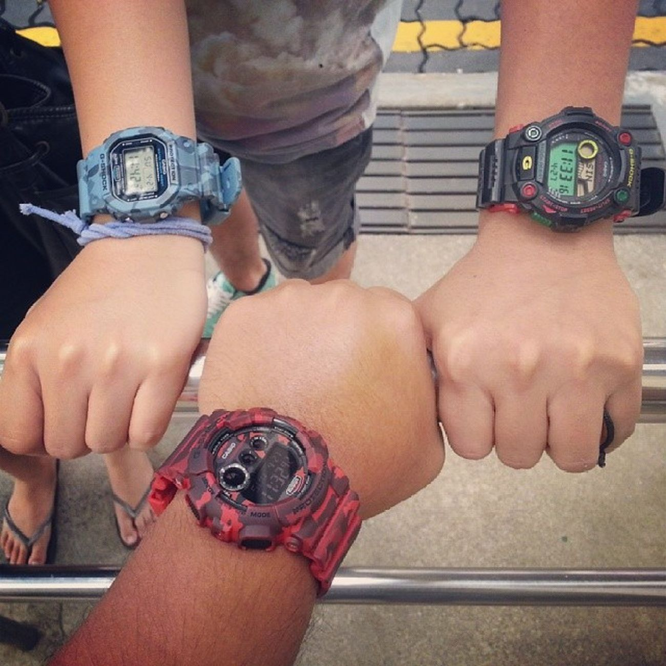 Siblings G-shock day!! Gshock Dw5600 Gd120cm G7900