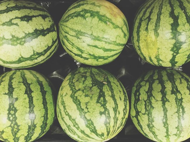 Six Watermelon Round Fruit Market Outdoors Food Seeds Mellons Check This Out Taking Photos Summer